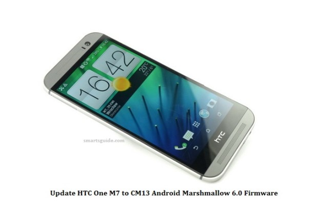 Update HTC One M7 to CM13 Android Marshmallow